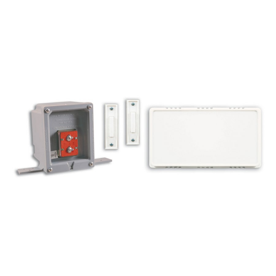 Heath Zenith Wired Door Chime Contractor Kit With UL Listed Rough In Box