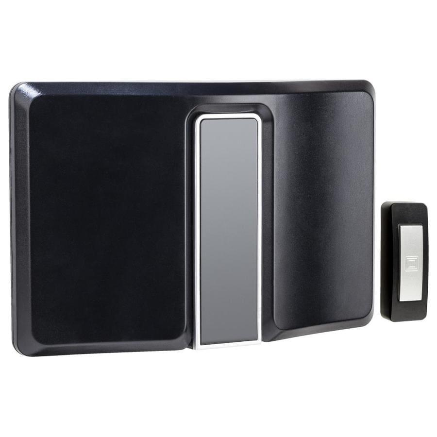 Heath Zenith Notifi Black Wireless Doorbell Kit At Lowes Com