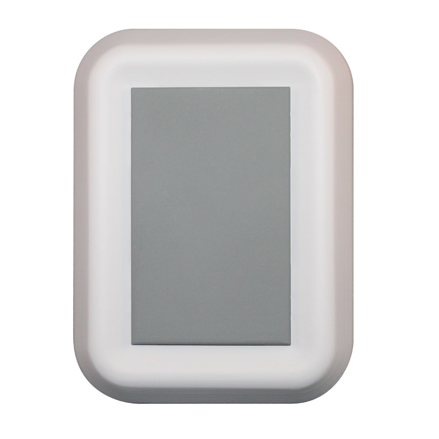 Heath Zenith White Frame with Cool Gray Center Panel Wireless Doorbell Kit