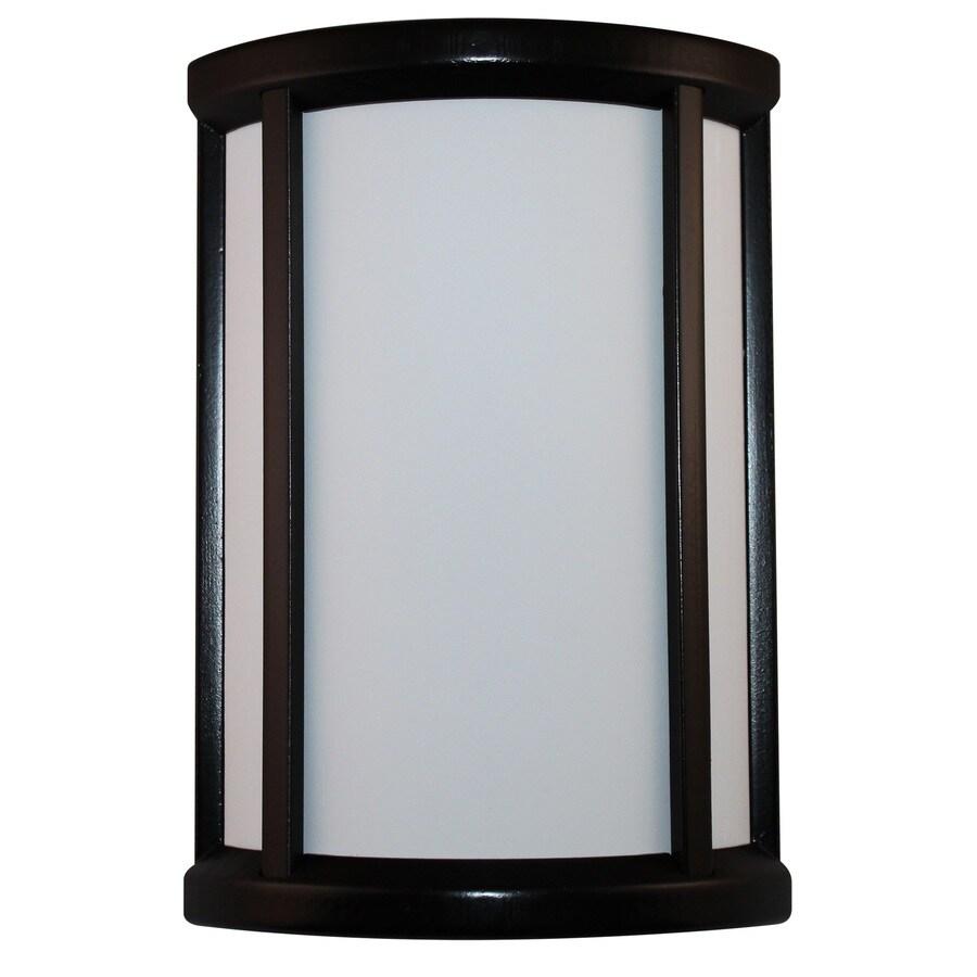 Heath Zenith Black Frame with White Insert Wireless Doorbell Kit
