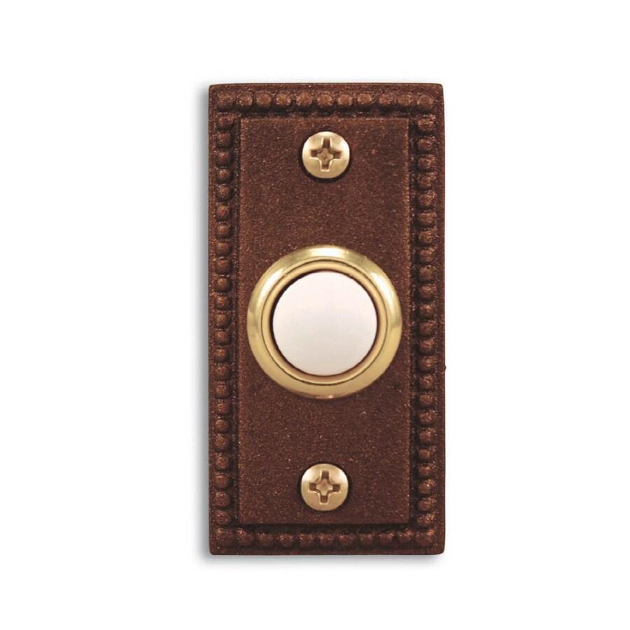 Heath Zenith Brushed Copper Doorbell Button