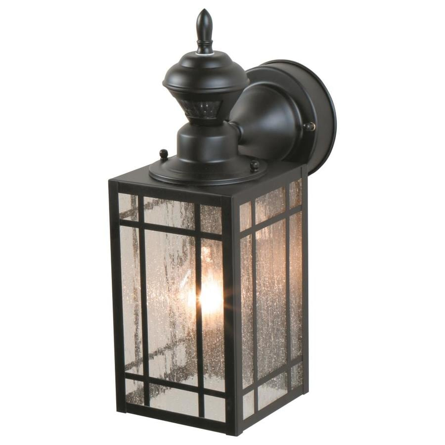 Shop Heath Zenith H Black Motion Activated Outdoor Wall Light At Lo
