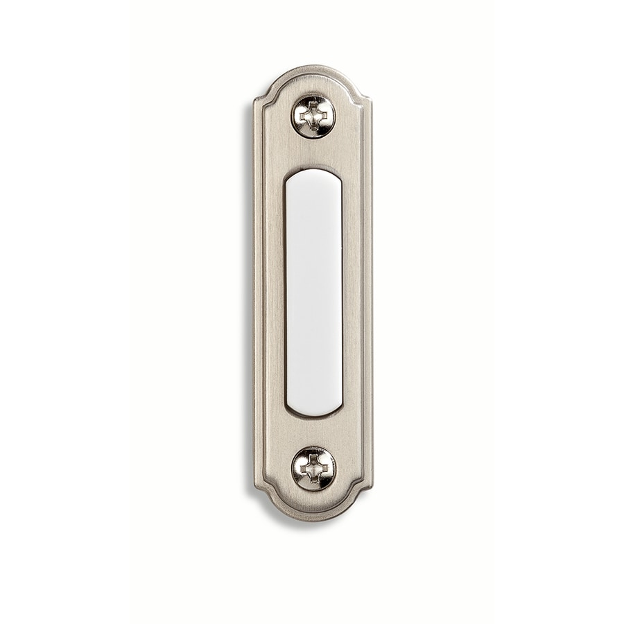 Shop Utilitech Nickel Doorbell Button At Lowes Com