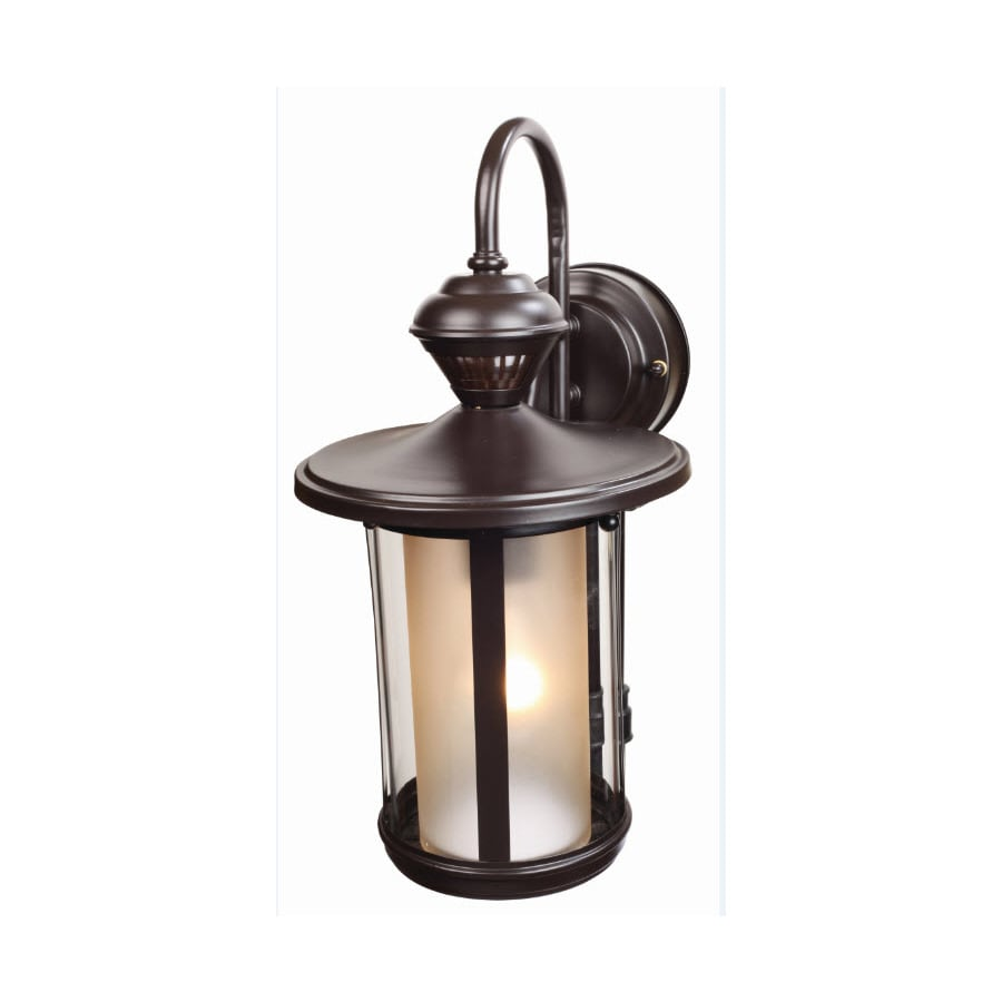 Secure Home 15-5/8-in Oil-Rubbed Bronze Motion Activated Outdoor Wall Light