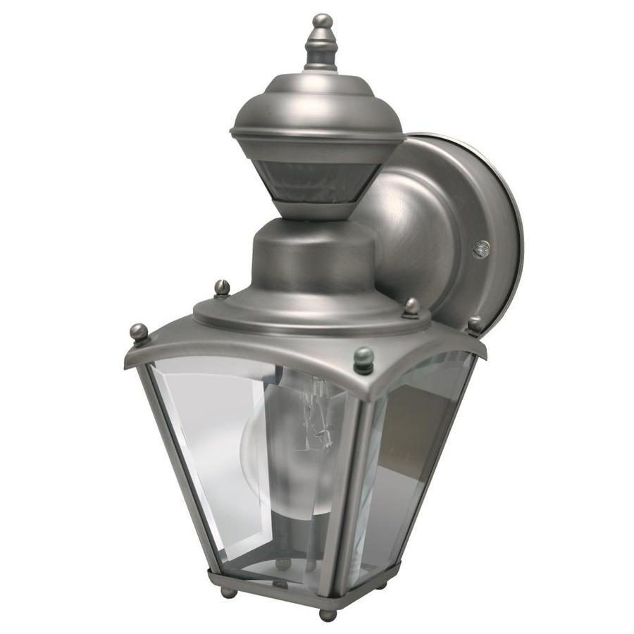 Heath Zenith 11.02-in H Pewter Motion Activated Outdoor Wall Light