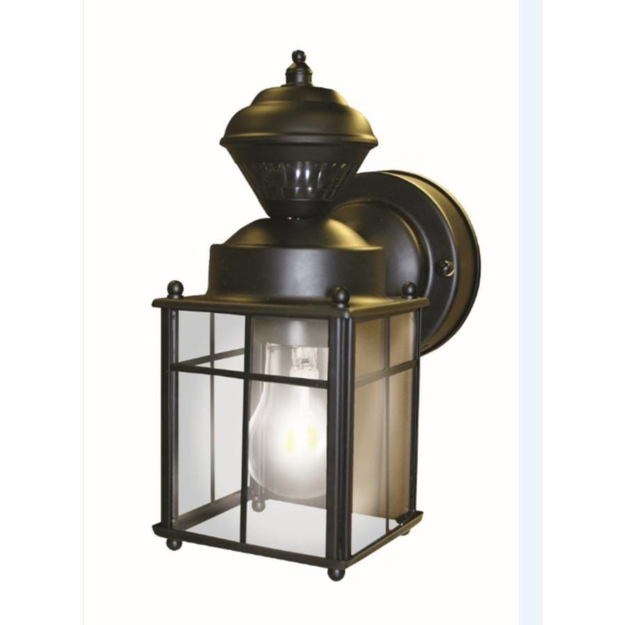 Shop Secure Home H Matte Black Motion Activated Outdoor Wall Light At