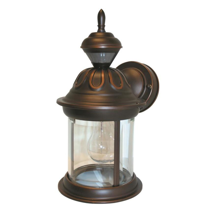 Shop heath zenith 14 1 in h antique bronze motion for Fixture exterieur led