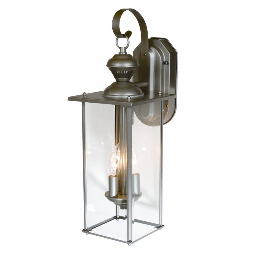 Secure Home 19-1/8-in Silver Motion Activated Outdoor Wall Light