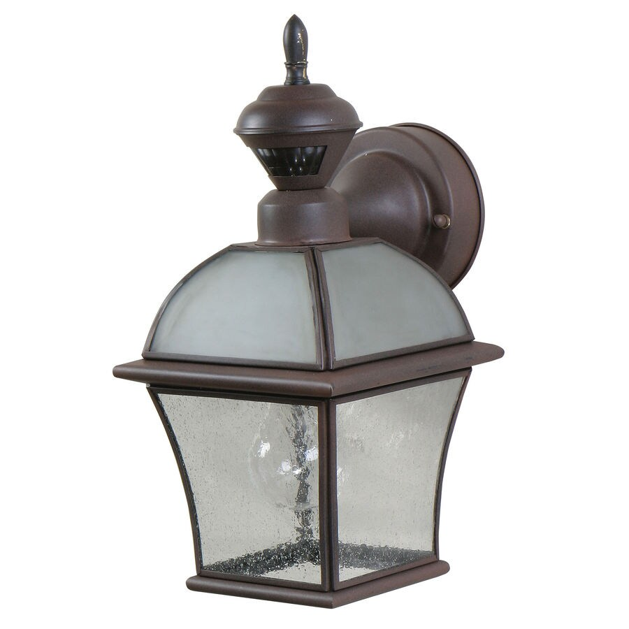 Heath Zenith 13-in H Rust Motion Activated Outdoor Wall Light