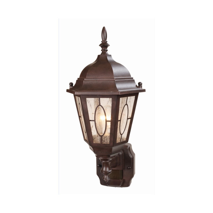 Secure Home Redonda 18.1-in H Heritage Bronze Motion Activated Outdoor Wall Light