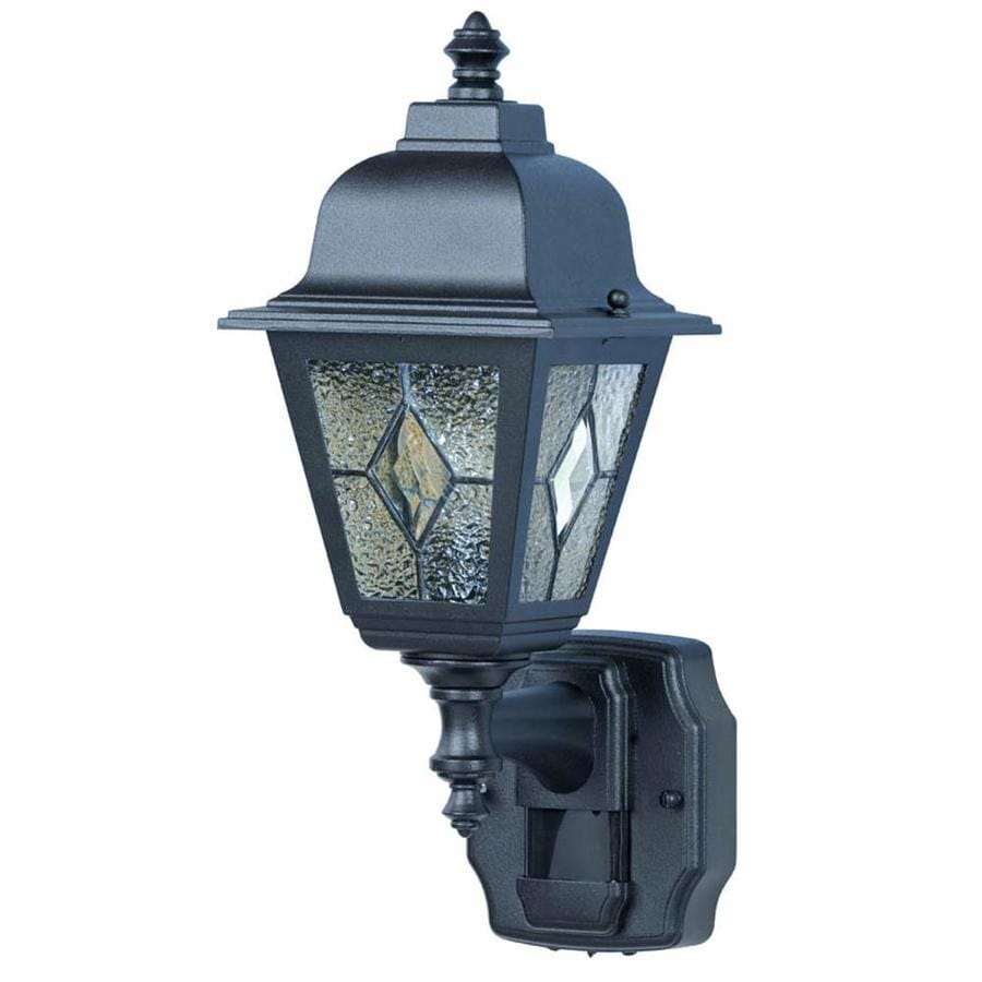 Heath Zenith Outdoor Lighting Shop heath zenith 1575 in h black motion activated outdoor wall heath zenith 1575 in h black motion activated outdoor wall light workwithnaturefo