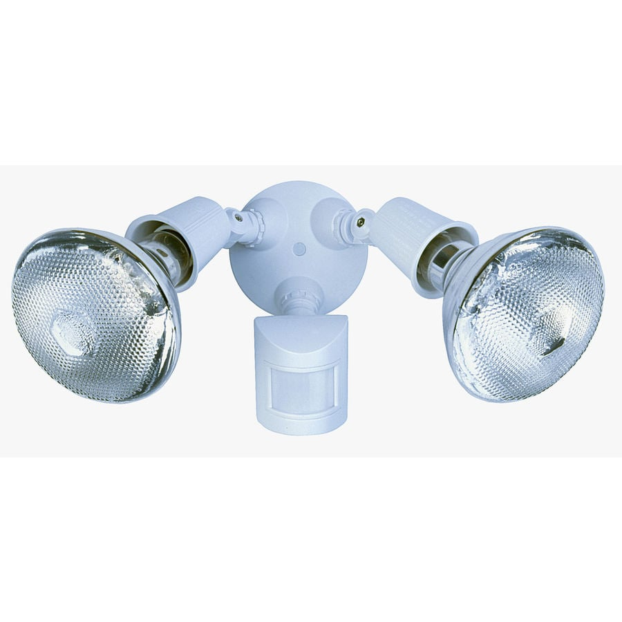 Shop Secure Home 110-Degree 2-Head White Halogen Motion-Activated ...