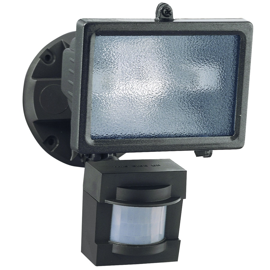Secure Home 110-Degree 1-Head Bronze Halogen Motion-Activated Flood Light  with