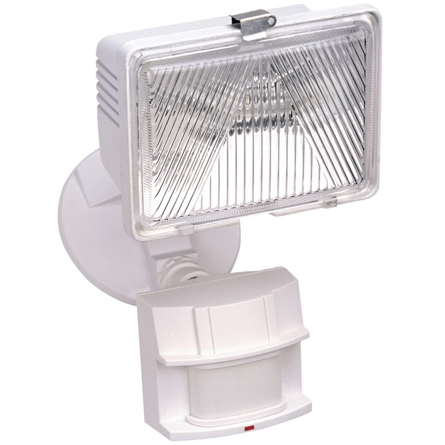 Secure Home 180-Degree 1-Head White Halogen Motion-Activated Flood Light with Timer