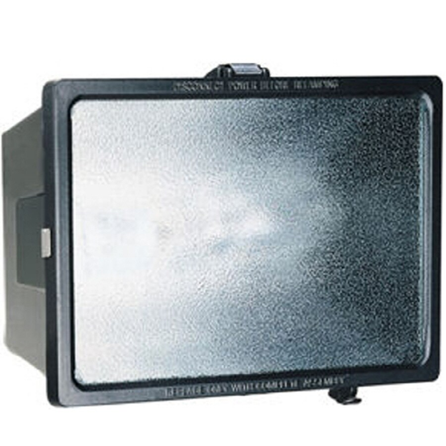 Utilitech 1-Head 70-Watt Black High-Pressure Sodium Dusk-To-Dawn Flood Light