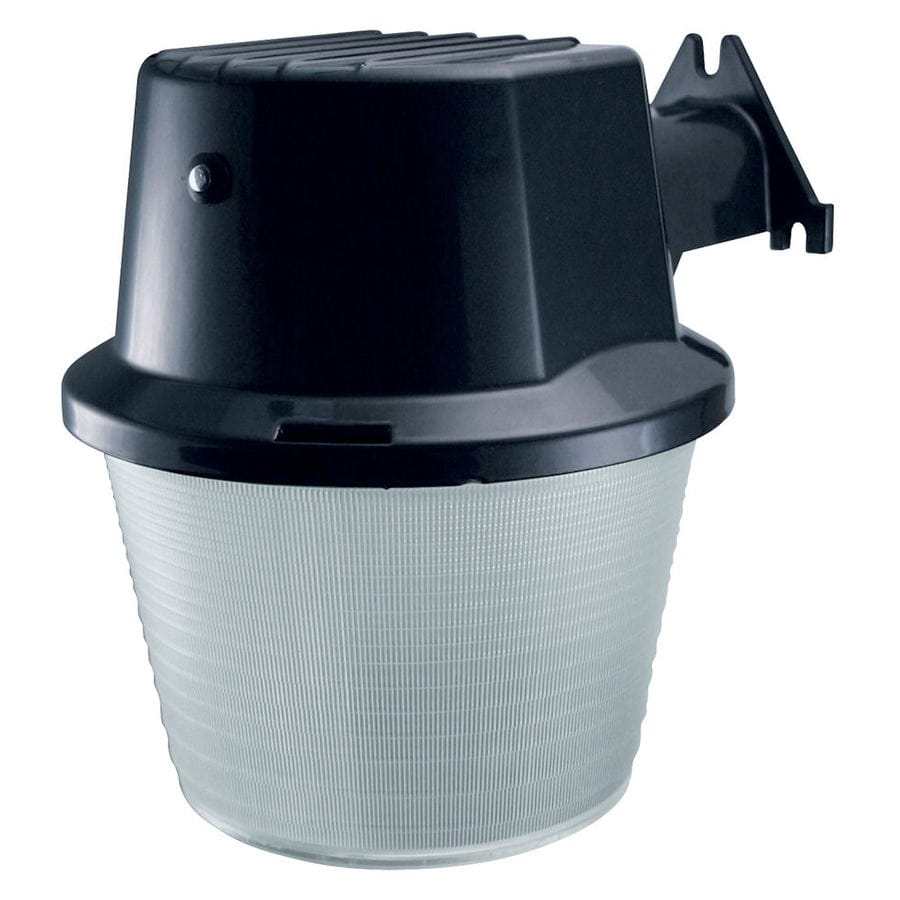 Utilitech 1-Head 42-Watt Black CFL Dusk-to-Dawn Flood Light