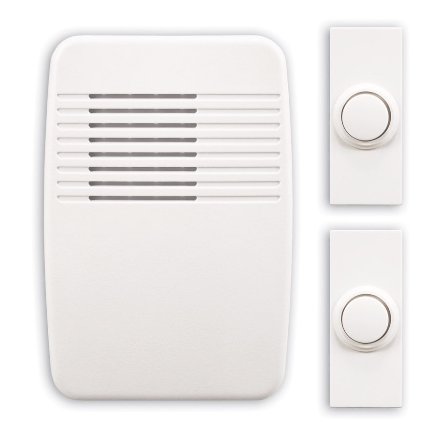 Heath Zenith White Wireless Doorbell Kit At Lowes Com