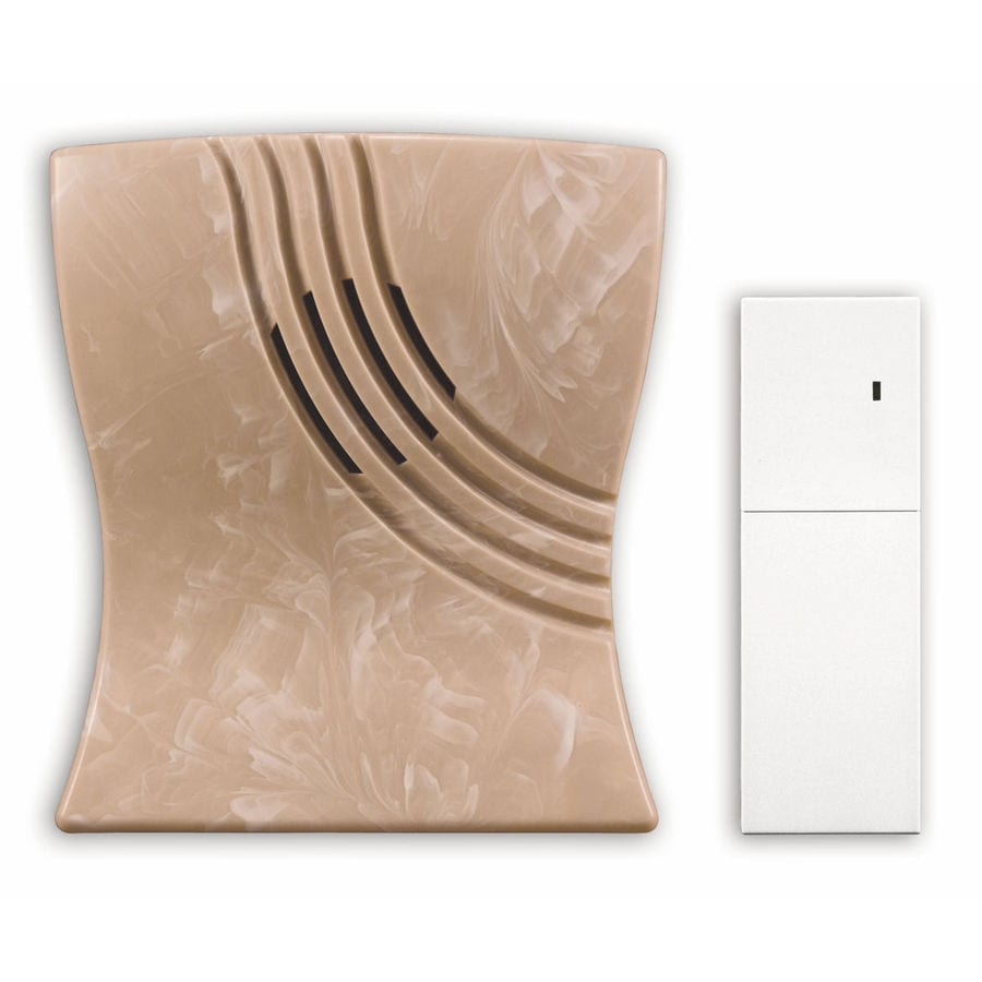 Heath Zenith Marble Wireless Doorbell Kit with Extender