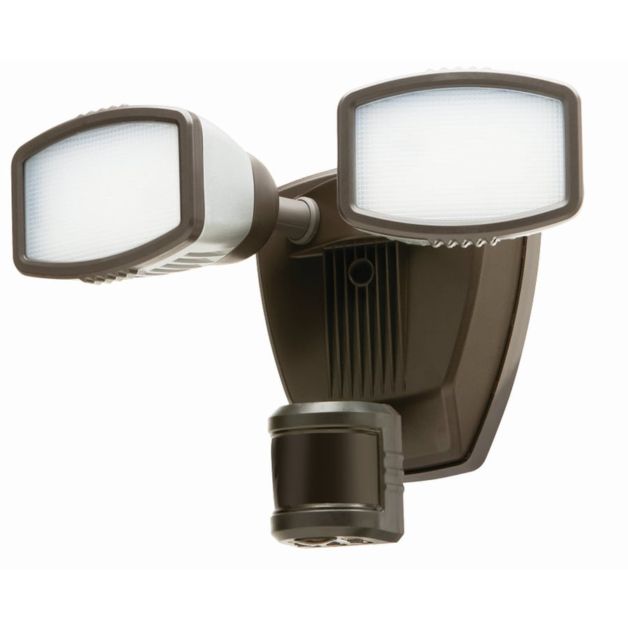 Secure Home 240-Degree 2-Head Dual Detection Zone Bronze Integrated LED Motion-  sc 1 st  Loweu0027s & Shop Secure Home 240-Degree 2-Head Dual Detection Zone Bronze ... azcodes.com