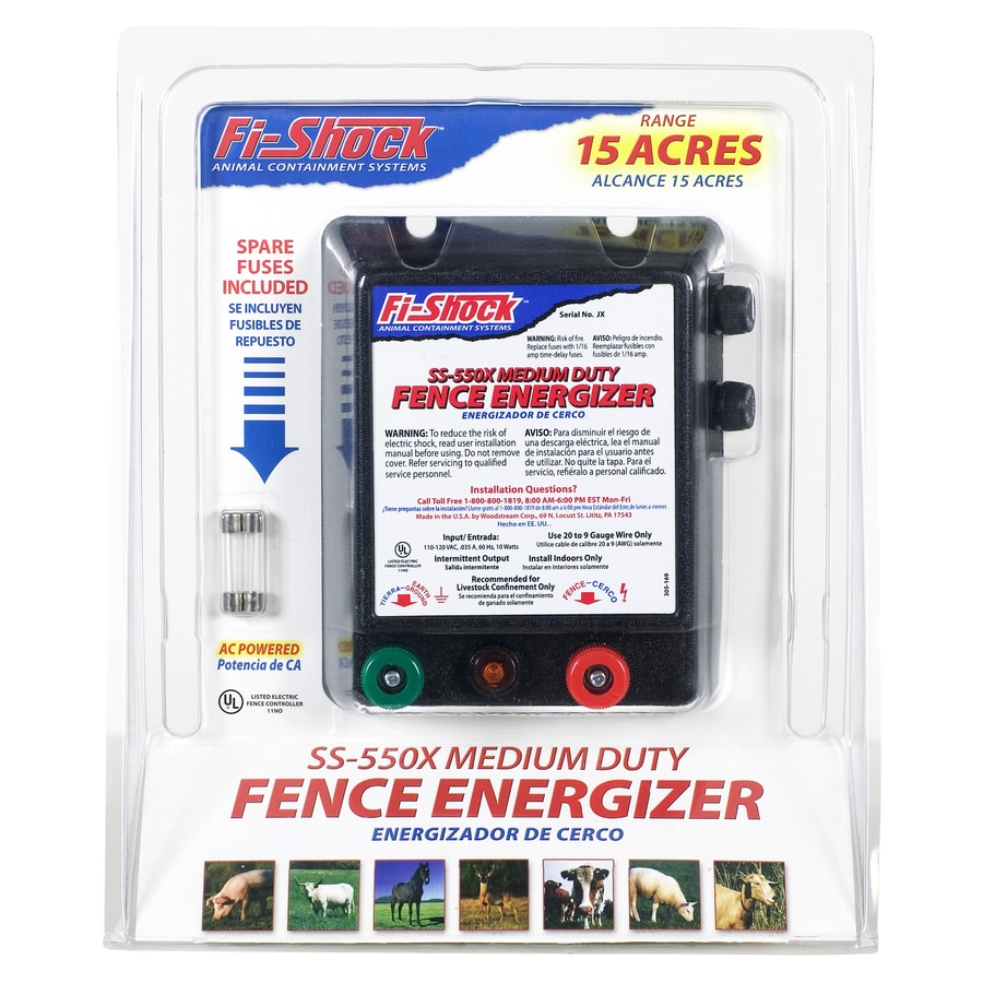 Fi Shock 15 Mile Ac Hardwired Electric Fence Charger At Zapper Chargers