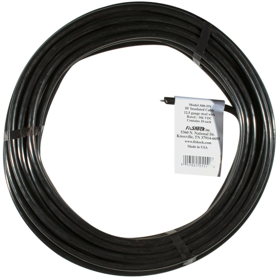 Fi Shock 50 Ft 12 5 Gauge Electric Fence High Tensile Wire In The Electric Fence Wire Tape Department At Lowes Com