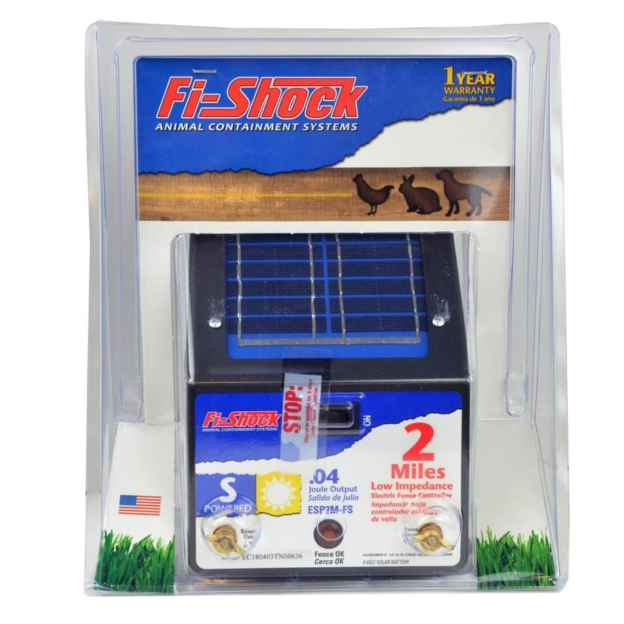 Fi Shock 2 Mile Solar Electric Fence Charger At Lowes Com