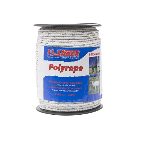 Fi Shock 656 Ft Electric Fence Poly Rope In The Electric