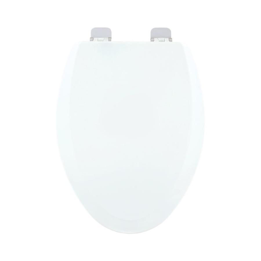 Centoco White Wood Elongated Toilet Seat
