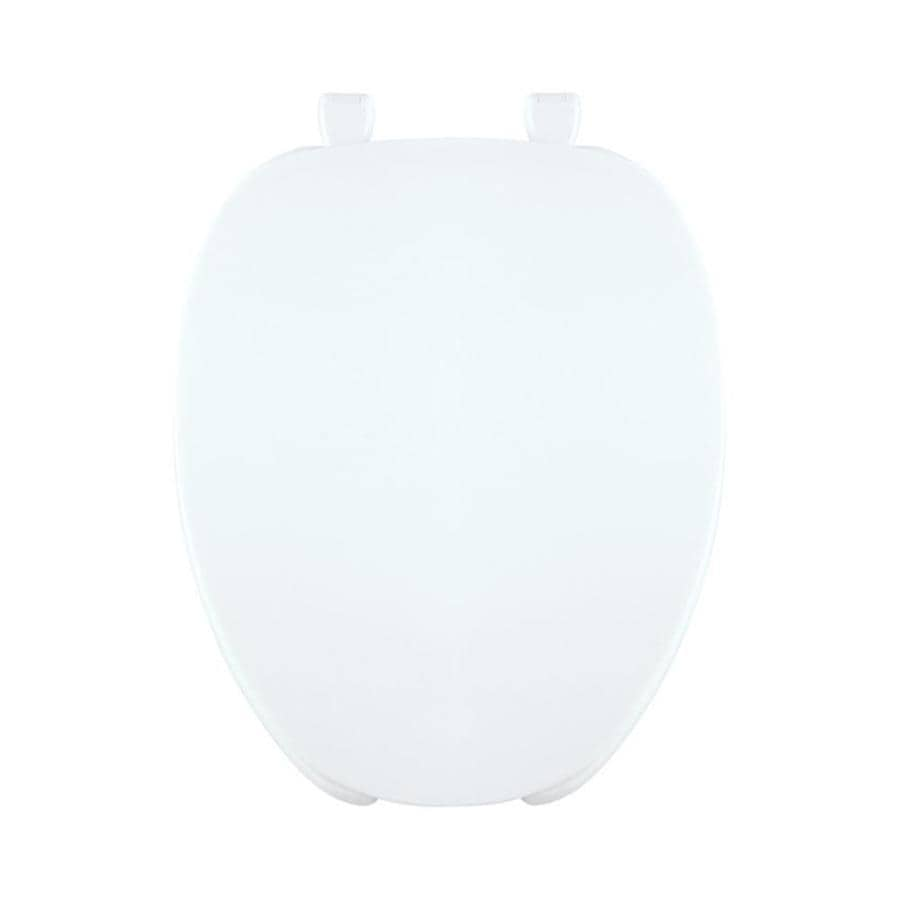 Centoco White Plastic Elongated Toilet Seat