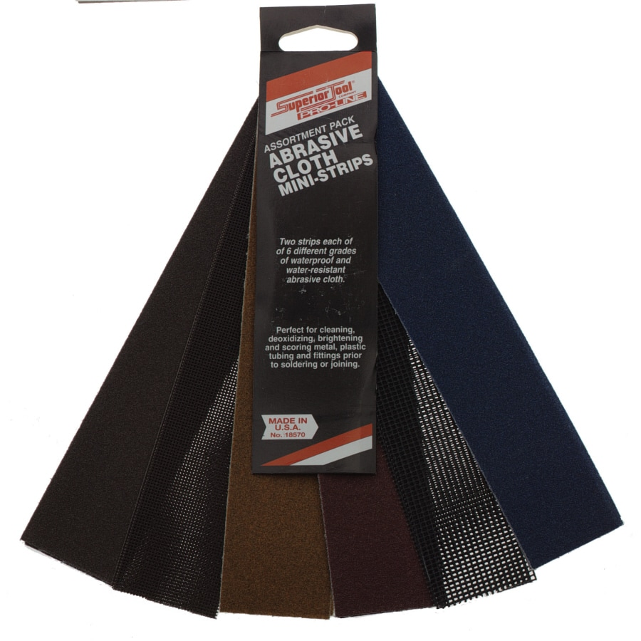 Superior Tool Abrasive Cloth Mini Strips