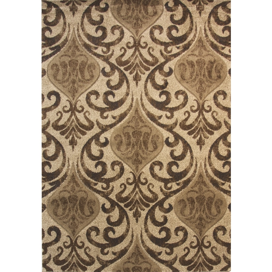 Balta Manchester Brown Linen Rectangular Indoor Machine-Made Inspirational Throw Rug (Common: 2 x 4; Actual: 1.97-ft W x 3.61-ft L)