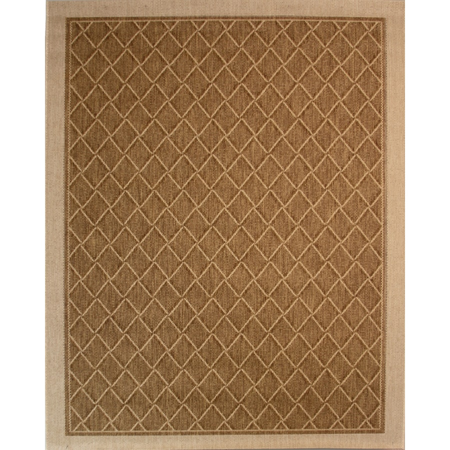 8x10 Indoor Outdoor Area Rugs: Society Page Grain Rectangular Indoor/Outdoor Machine-Made
