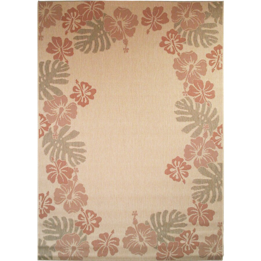 Bermuda Sand Rectangular Indoor/Outdoor Machine-Made Nature Area Rug (Common: 5 x 7; Actual: 63-in W x 89-in L)
