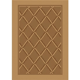 Society Page Grain Rectangular Indoor Outdoor Machine Made Moroccan Throw Rug Common