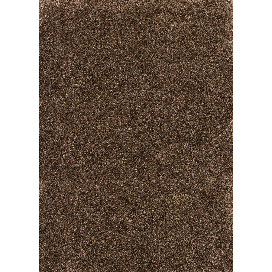 Balta Luxury Shag Rectangular Brown Solid Woven Area Rug (Common: 5-ft x 7-ft; Actual: 5.25-ft x 7.25-ft)