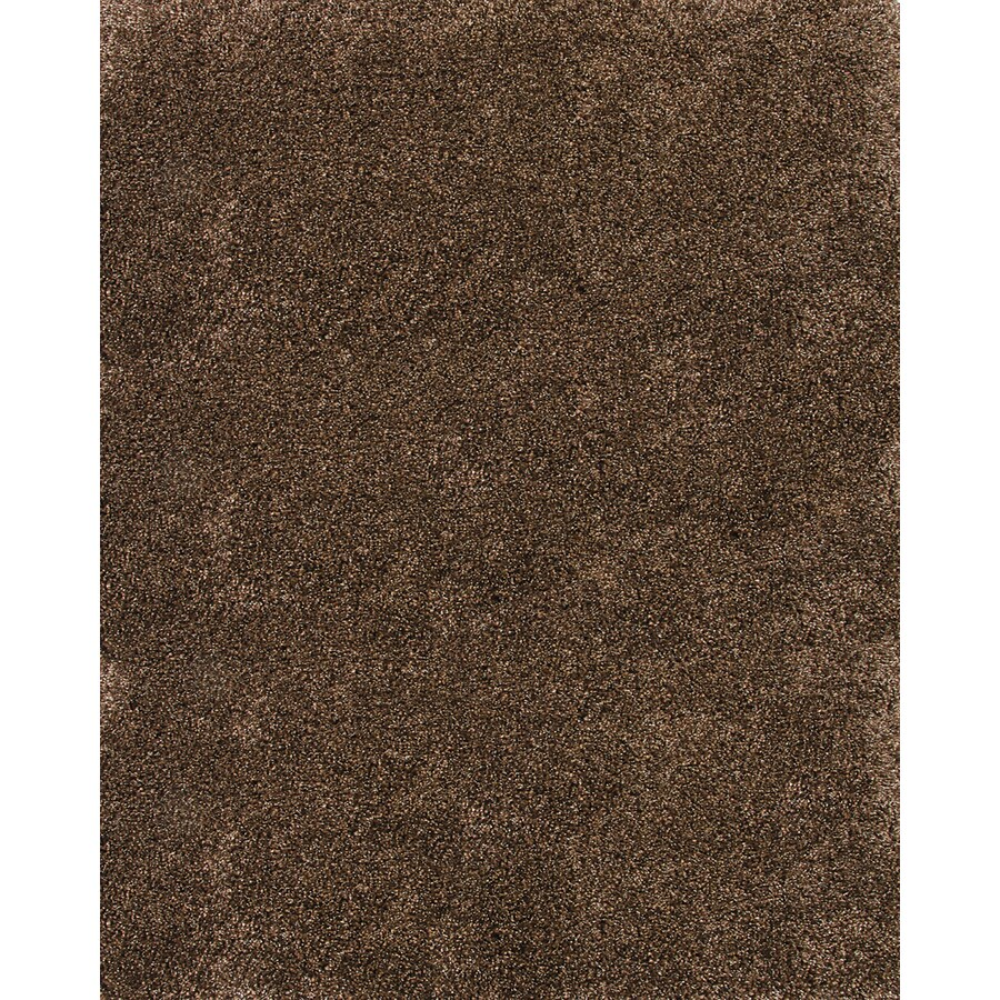 Balta Luxury Shag Rectangular Brown Solid Woven Area Rug (Common: 8-ft x 10-ft; Actual: 7.83-ft x 10-ft)