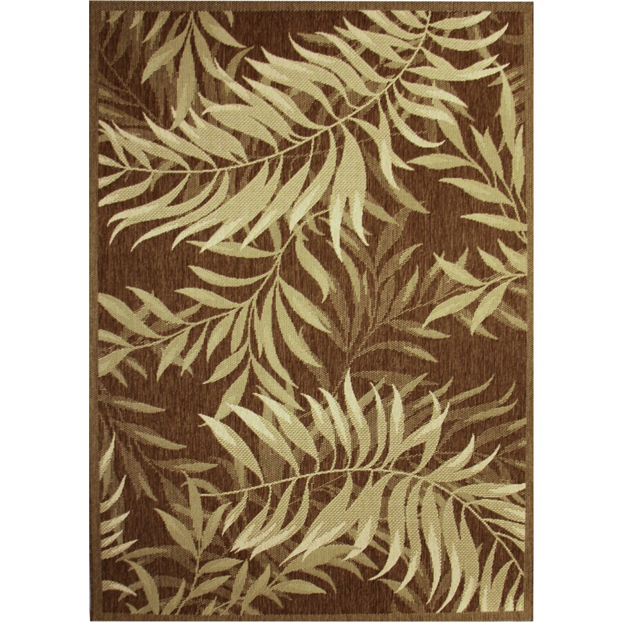 Top Shop Palm Leaf Havanah Rectangular Machine-made Nature Area Rug  ZH77
