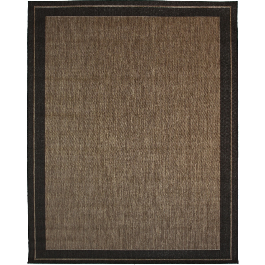 New Haven Havanah and Black Rectangular Indoor/Outdoor Machine-Made Nature  Area Rug (