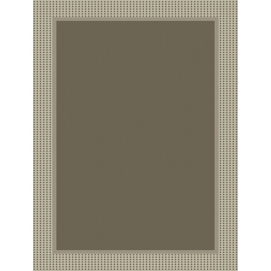 Dorsay 5-ft 3-in x 7-ft 6-in Rectangular Gray Border Indoor/Outdoor Area Rug