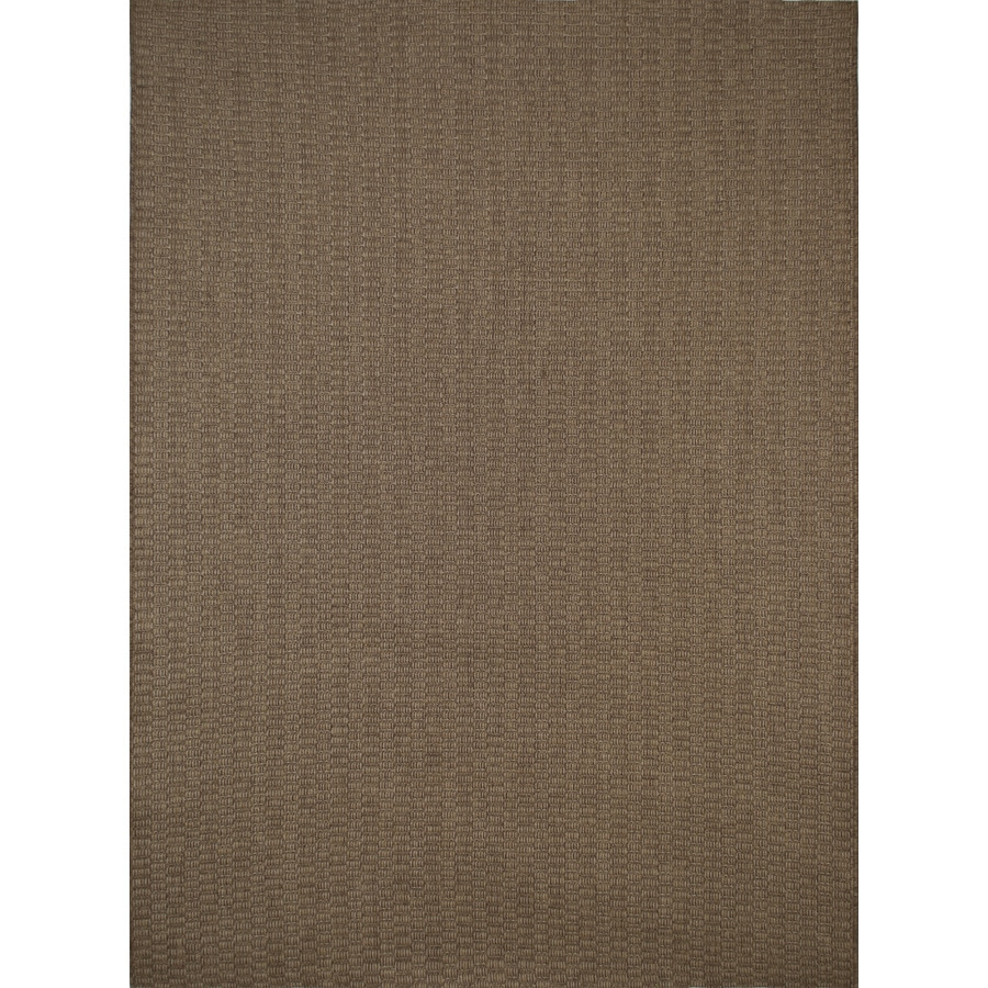Balta Natural Brown Rectangular Indoor/Outdoor Machine-Made Inspirational Area Rug (Common: 5 x 8; Actual: 5.25-ft W x 7.38-ft L x 0-ft Dia)