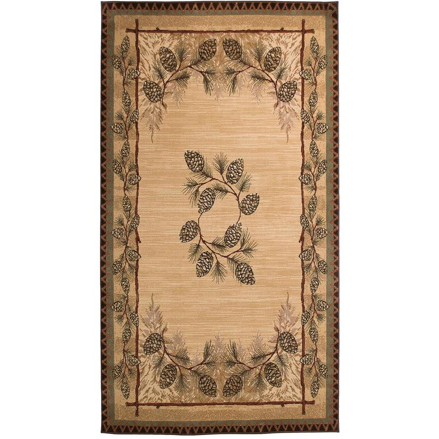 Balta Carlswell Beige Indoor Lodge Area Rug (Common: 2 x 3; Actual: 1.11-ft W x 3.7-ft L)