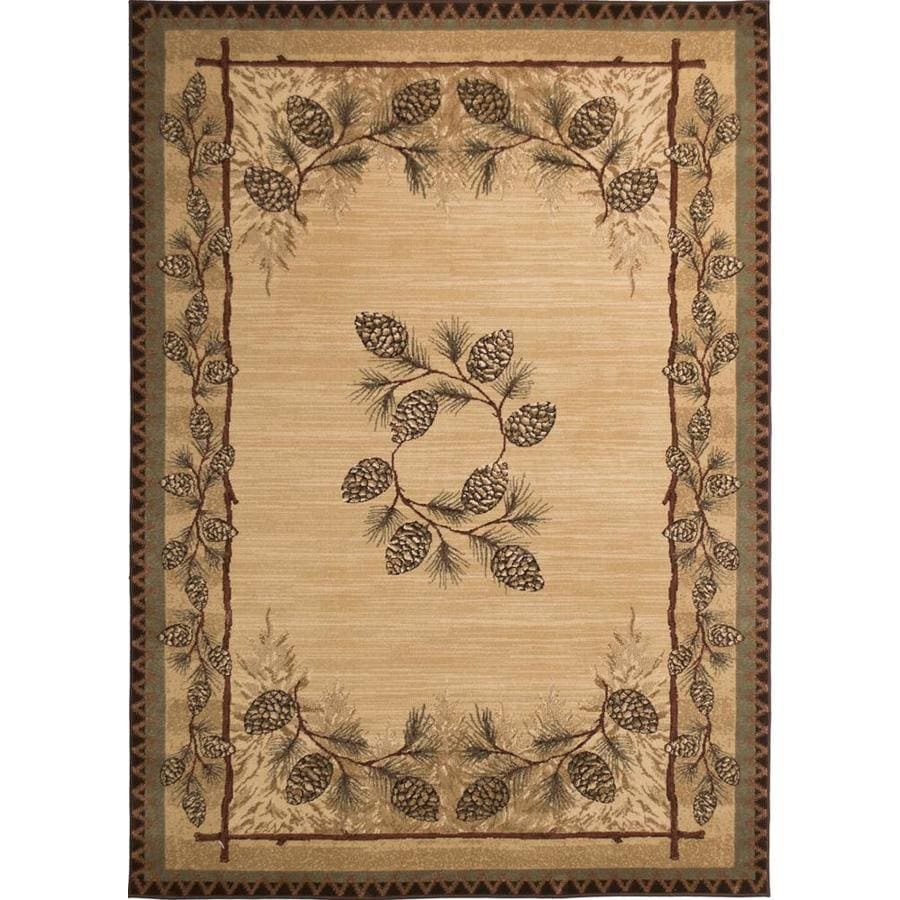 Balta Carlswell Beige Rectangular Indoor Machine-Made Lodge Area Rug (Common: 5 x 7; Actual: 5.3-ft W x 7.2-ft L)