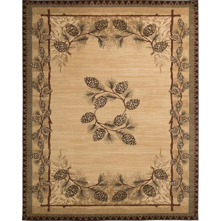 Shop Balta Carlswell Beige Indoor Lodge Area Rug Common