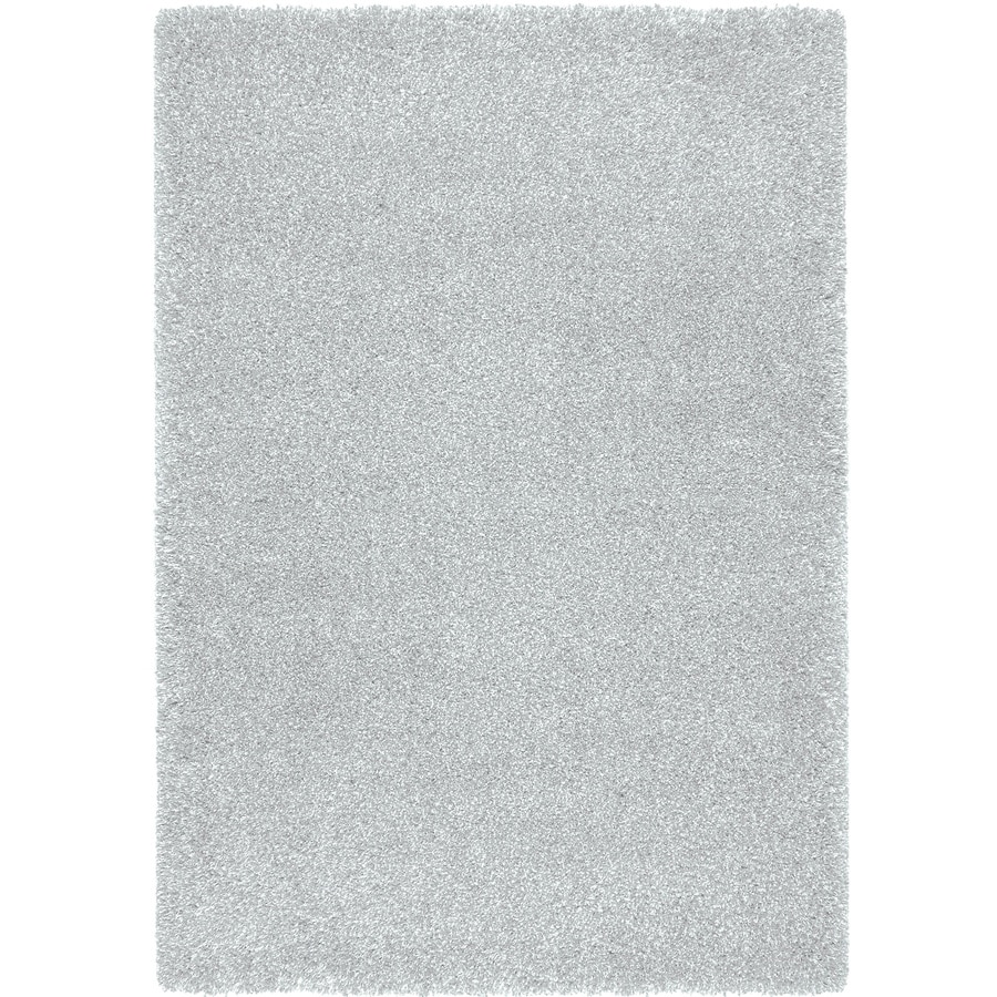 Balta Opening Night Light Blue Rectangular Indoor Machine-Made Inspirational Area Rug (Common: 5 x 7; Actual: 5.25-ft W x 7.22-ft L)