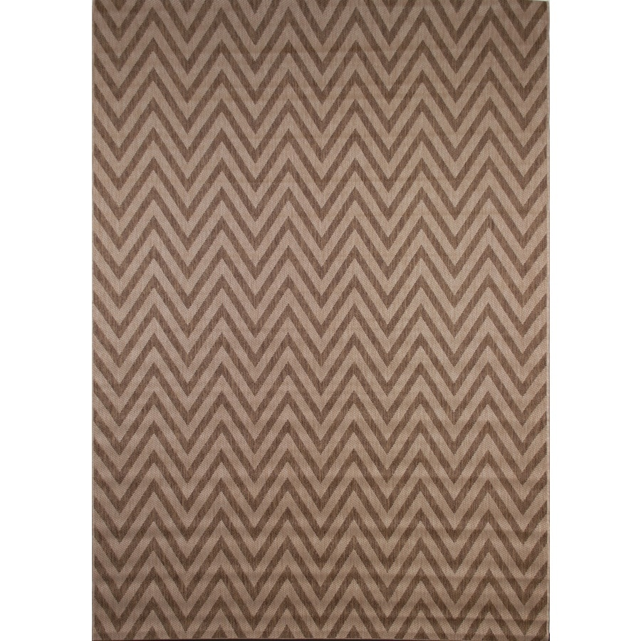 Balta Kesswood Natural Chevron Grain Rectangular Indoor/Outdoor Machine-Made Inspirational Area Rug (Common: 6 x 9; Actual: 6.6-ft W x 6.9-ft L)