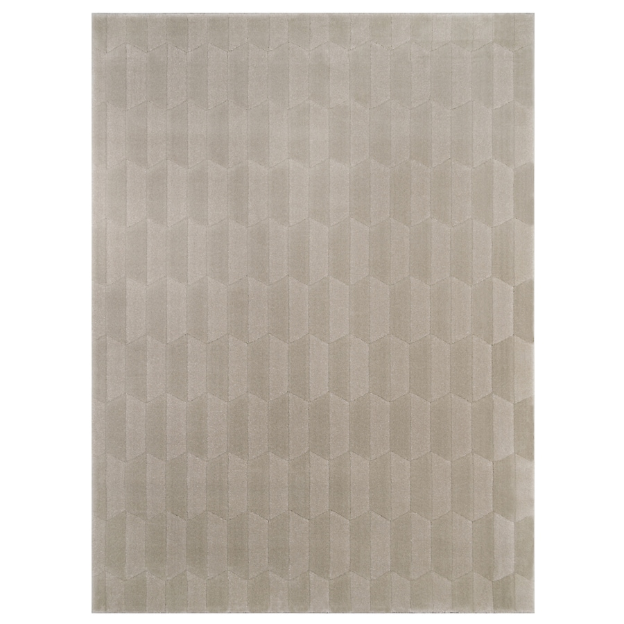 allen + roth Aberlee Taupe Rectangular Indoor Machine-Made Inspirational Throw Rug (Common: 2 x 4; Actual: 1.97-ft W x 3.61-ft L)