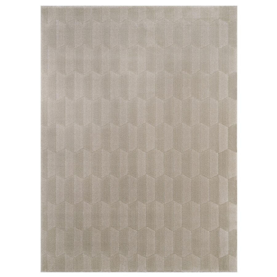 allen + roth Aberlee Taupe Rectangular Indoor Machine-Made Inspirational Area Rug (Common: 4 x 6; Actual: 3.93-ft W x 5.58-ft L)