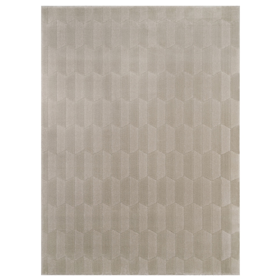 allen + roth Aberlee Taupe Rectangular Indoor Machine-Made Inspirational Area Rug (Common: 7 x 10; Actual: 7.87-ft W x 10-ft L)