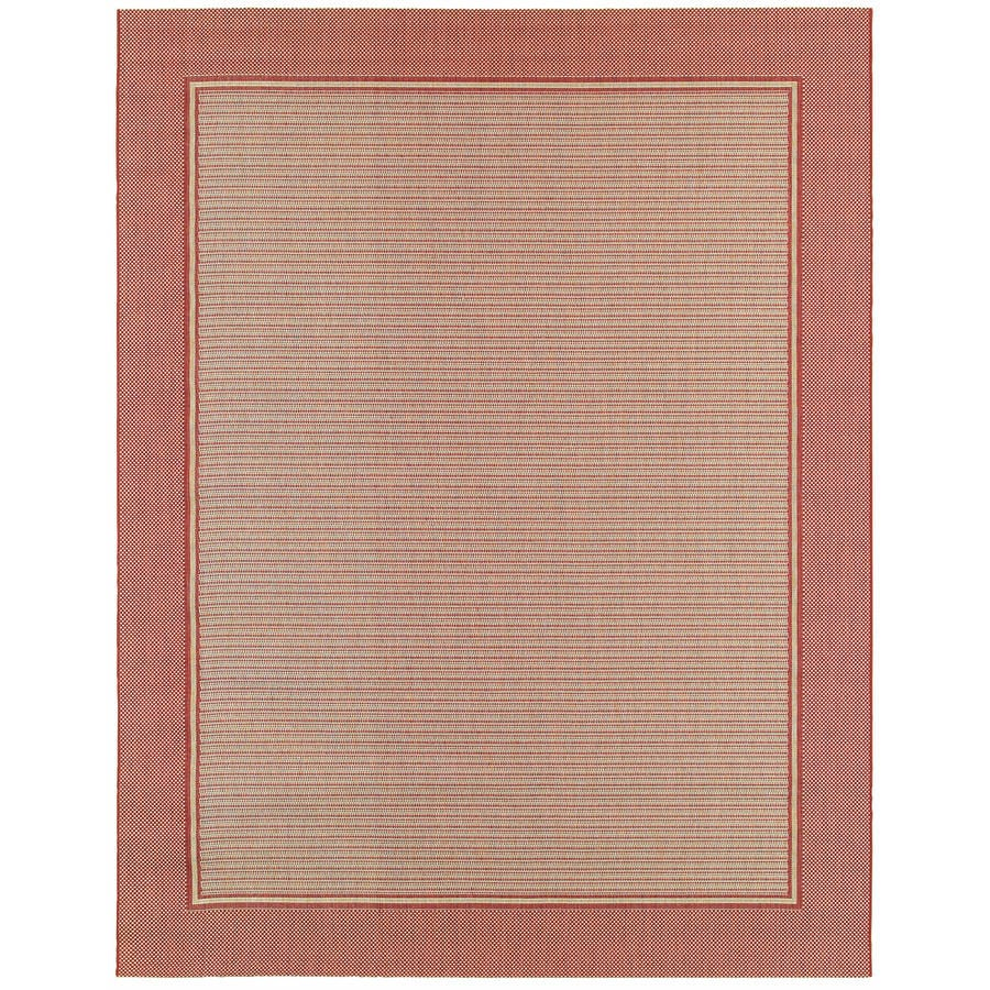 allen + roth Breckside Natural Rectangular Indoor/Outdoor Machine-Made Inspirational Area Rug (Common: 7 x 10; Actual: 7.87-ft W x 10-ft L)