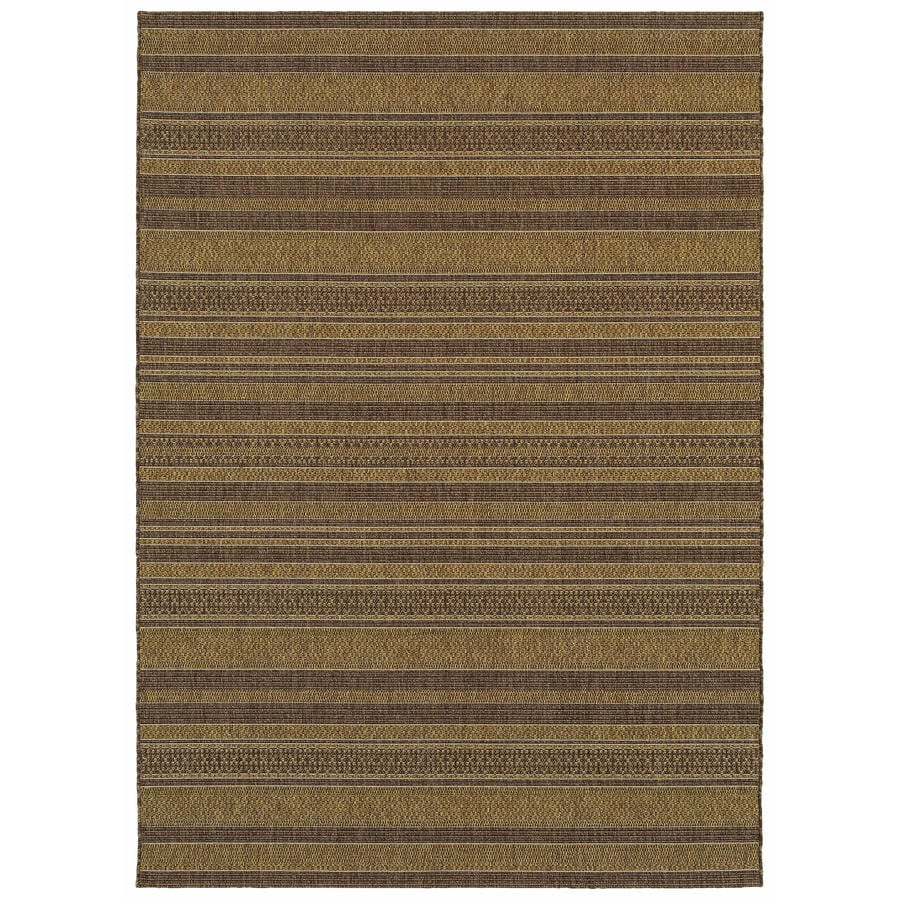 allen + roth Fulbeck Natural Rectangular Indoor/Outdoor Machine-Made Inspirational Area Rug (Common: 7 x 10; Actual: 7.87-ft W x 10-ft L)